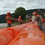 Aufbau Beaver Hochwassersperre