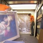 Kulturgut wird transportiert